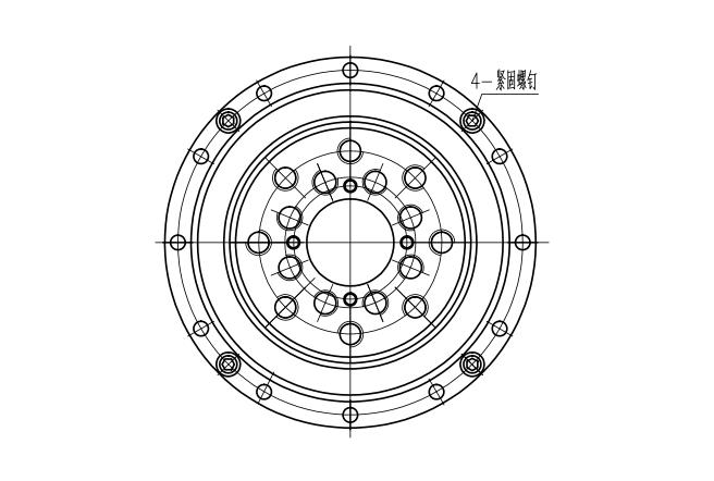 谐波减速器用交叉滚子轴承CSG(CSF)型结构尺寸