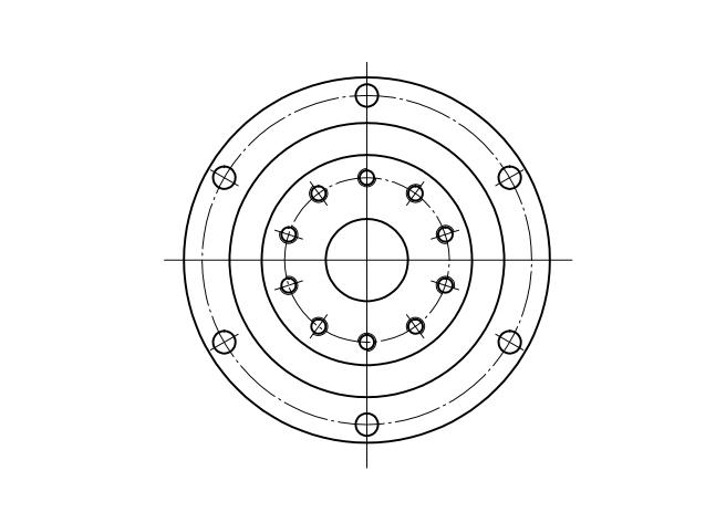 谐波减速器轴承CSD型结构尺寸