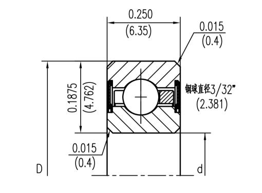 C型密封薄壁深沟球轴承